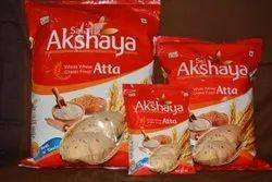 akshya Indian Wheat Flour Fresh Chakki Atta, Packaging Type: Packet, 3month
