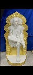 Marble Singhasan Sai Baba Statue