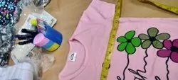 Half Sleeve Round Ladies Cotton T Shirt