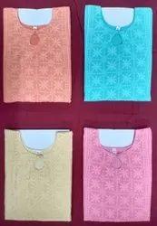 Formal Wear Straight Georgette Chikan Kurtis, Wash Care: Machine wash