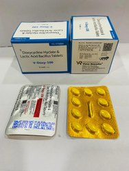 V-Doxy 100mg Doxycycline Hydrochloride and Lactic Acid Bacillus Tablets