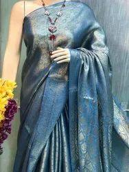 Kota Tissue Linen Weaving Sarees