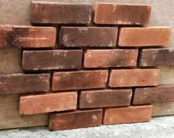 Bhakti Bricks Clay Burnt Wall Cladding Brick Tile, Thickness: 24 mm