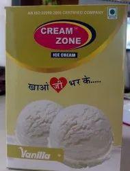 Cream Zone Vanilla Ice Cream, Pack Size: 4 L, Packaging Type: Box