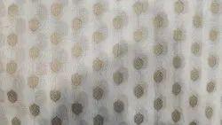 Chanderi Jacquard Booti Fabric