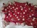 Moss Fabric Bandhej Saree