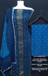 Cotton satin gadwal suits