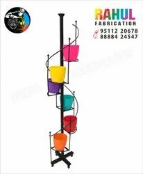 Black Round Flower Pot Stand Wall Hang, For Home, Size: 5ft