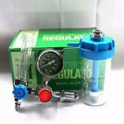KC Green Alluminium Medical Oxygen Flowmeter with humidifier, Model Name/Number: GR1320