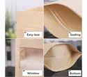 Kraft Paper Stand Up Pouch With Window