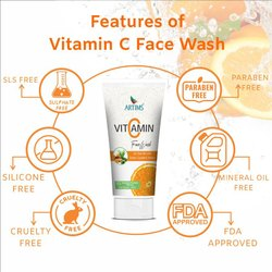 Herbal Orange Artims Vitamin c Face wash, Age Group: Adults, Packaging Size: 60 Ml X 12