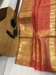 Banarasi Organza Silk Embroidery Sarees