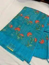 Jute Organza Silk Weaving Sarees