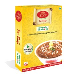 Pav Bhaji Ready To Eat Food, Packaging Type: Box