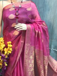 Silk Linen Weaving Sarees