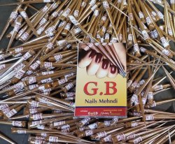 Dark Brown Nails Mehndi, For Parlour