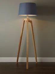 Handmade Wooden Floor Lamp, For Home