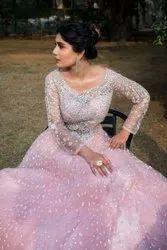 Net Bridal Wedding Gown, Size: S To Xxl