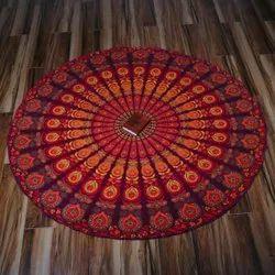 Indian Round Mandala Floor Cushion