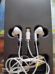 Wired White Iphone Handsfree