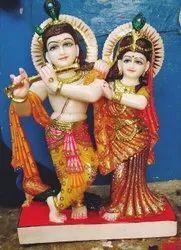 Marble Jugal Jodi Radha Krishna Statue