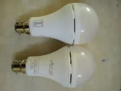 Round Cool White 9w Ac Dc Rechargeable Led Bulb, B22