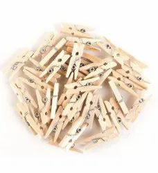 Wooden Clip for Used in Art & Craft, Decorations, School DIY Projects - Multicolor & natural