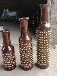 Wooden Handcrafted Flower Pots Set