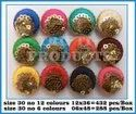 Multicolor Round Fancy Buttons, Packaging Type: Box