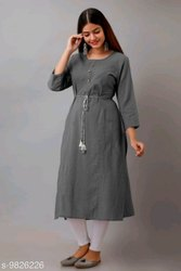 Cotton Casual Wear Women Anarkali Kurtis