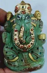 Green Aventurine Ganesha Statue