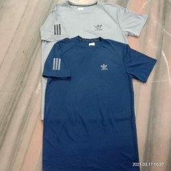 Lycra Blue Adidas T Shirt