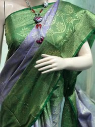Shifa Enterprises Party Wear Kota staple banarasi Saree, Without blouse piece, 6.50 m with blouse piece