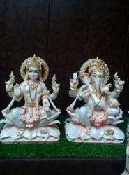 Laxmi Ganesh Ji Marble Murti