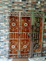 Polished Stainless Steel Gate, For Home