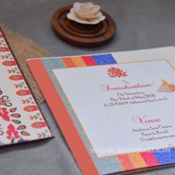 Wedding Seed Paper Invitation, 2 Leaflet