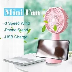 Handy Mini Fan With Mobile Stand