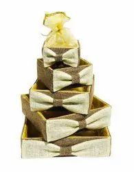 Brown Wooden Gift Packaging Basket, Capacity: 2 Kg To 10 Kg