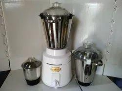 Stainless Steel White 1400 Watt Mixer Grinder, For Wet & Dry Grinding, Capacity(Litre): 3 Liter