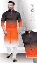Digital plain Kurta Fabrics