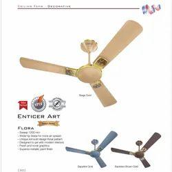 White Havells Enticer Art Decorative Ceiling Fan, Fan Speed: 390 Rpm, Power: 70 Watts