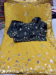 Pure Organja Crape Fabric Saree