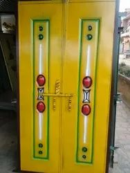 Iron Polished One Piece Stamped Sheet Doors, Double Door, Material Grade: Premium Quality