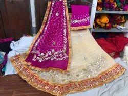 Silk Bandhej Lehenga