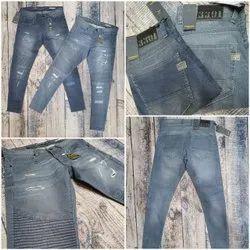 Slim Fit Casual Wear Mens Gray Denim Jeans
