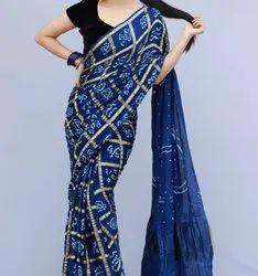 Gazi Silk Bhandhni Saree