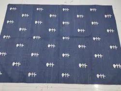 Dark blue Cotton rugs, Size: Maximum 9*12
