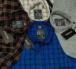 100% Cotton Full Sleeve Men's Casual Check Shirt, Size: S-36 M-38 L-40 Xl-42