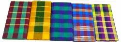 Casual Wear Pure Cotton Checks Sarees, Without Blouse, 5.5 m