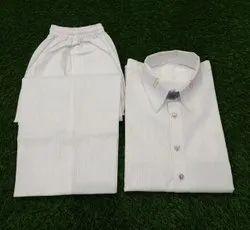 Plain White Men''s Pathani Kurta Suit